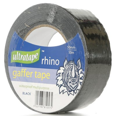 Ultratape Rhino Gaffer Tape Black 50mm x 50m