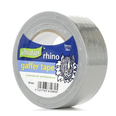 Ultratape Rhino Gaffer Tape Silver 50mm x 50m