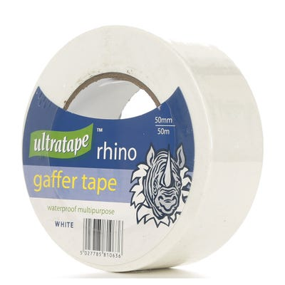 Ultratape Rhino Gaffer Tape White 50mm x 50m