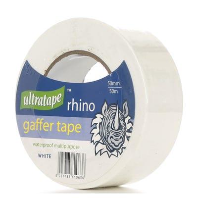 Ultratape Rhino Gaffer Tape White 50mm x 50m