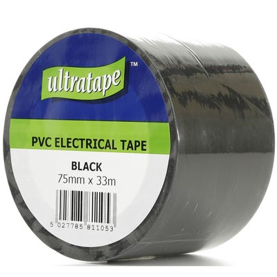 Ultratape PVC Tape Black 75mm x 33m