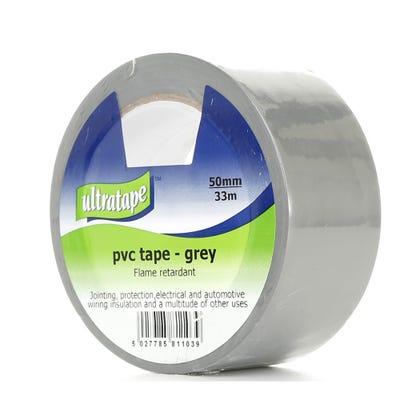 Ultratape PVC Tape Grey 50mm x 33m