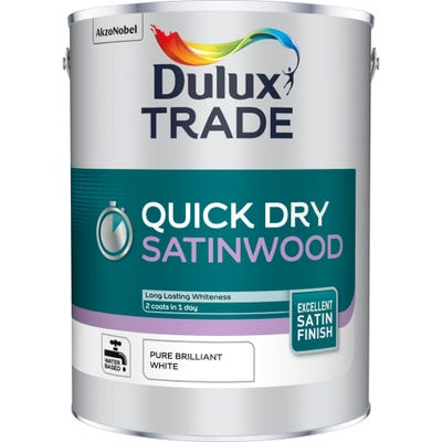 Dulux Trade Quick Dry Satinwood Pure Brilliant White