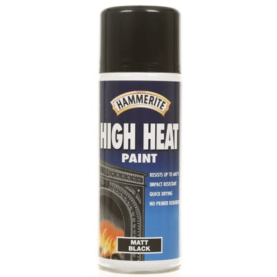 Hammerite High Heat Spray Paint Matt Black 400ml