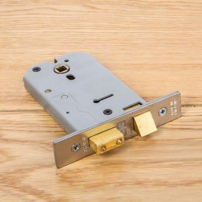 Union Mortice Lock Horizontal 127mm Satin Chrome