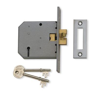 Union Sliding Door Lock 76mm Satin Chrome