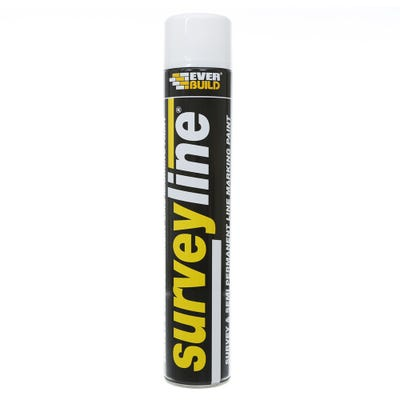 Everbuild Surveyline Site Spray Paint White 700ml