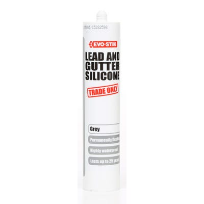 Evo-Stik Lead & Gutter Silicone Grey 310ml