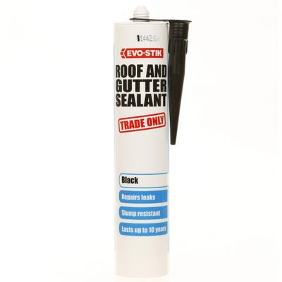 Evo-Stik Roof & Gutter Sealant Black 310ml