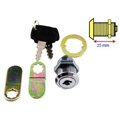 Cam Lock Universal 25mm Chrome