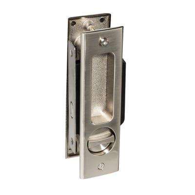 Sliding Door Lock Bathroom Set Satin Chrome