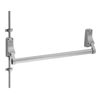 Push Bar Panic Bolt With Dogging Function With Vertical Rods Silver