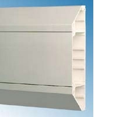 Dado Trunking Chamfered White 3m