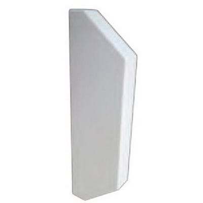 Dado Trunking End Cap Chamfered White