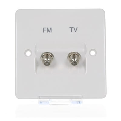 MK 2 Gang Angled Satellite Socket K3525D1WHI