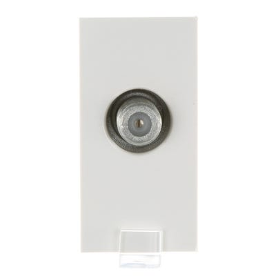 MK F Type Satellite Socket Euro Module K5855WHI