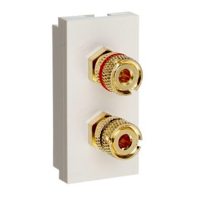 MK Audio Binding Post White K5805WHI
