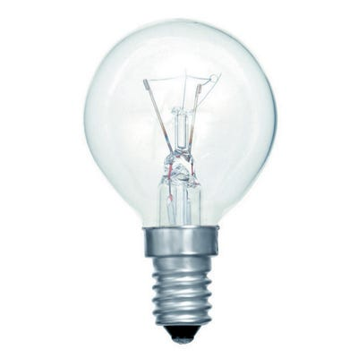 Clear 40W Round Oven Bulb G45 SES/E14