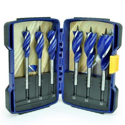 Irwin 6 Piece Blue Groove Auger Drill Bit Set 16-32mm