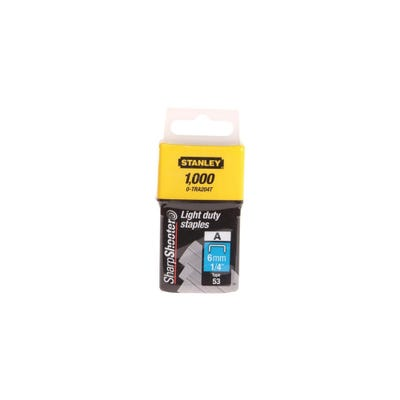 Stanley 6mm Light-Duty Staples Pack Of 1000 STA0TRA204T