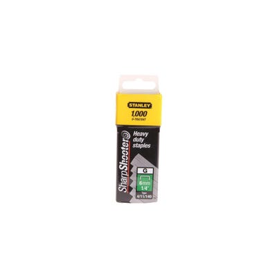 Stanley 14mm Heavy-Duty Staples Pack Of 1000 STA1TRA709T