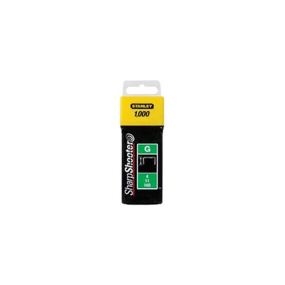 Stanley 10mm Heavy-Duty Staples Pack Of 1000 STA1TRA706T
