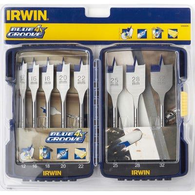 Irwin 8 Piece Blue Groove Flat Bit Set 12-32mm