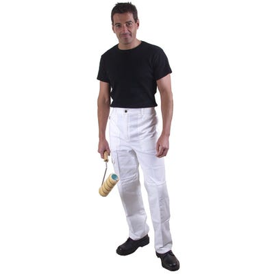 ProDec 38'' White Decorators Trousers