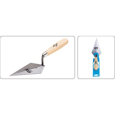 OX 6'' Pointing Trowel with Wooden Handle