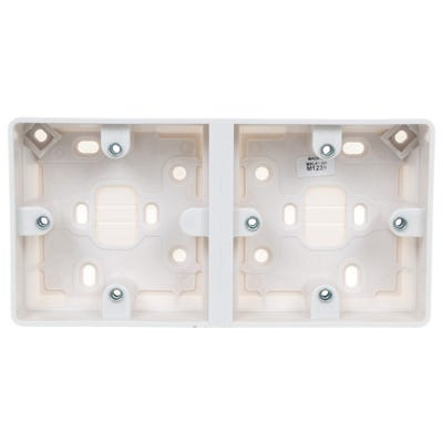 MK 30mm Dual Surface Mounted Pattress Box K2025WHI