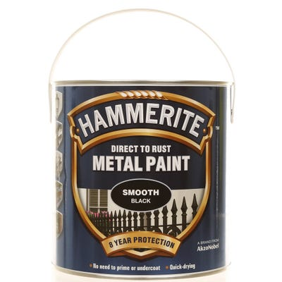 Hammerite Direct To Rust Metal Paint Smooth Black