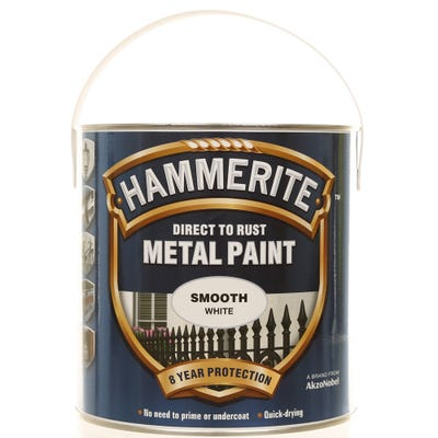 Hammerite Direct To Rust Metal Paint Smooth White