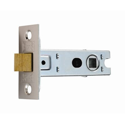 Eurospec 64mm Tubular Mortice Latch Nickel Plated