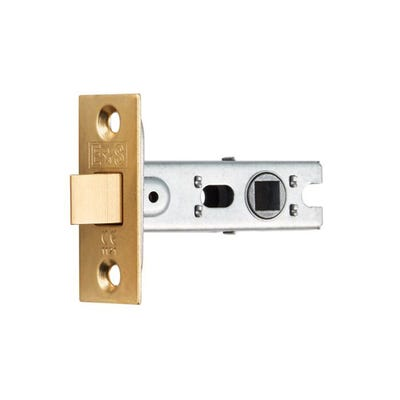 Eurospec 76mm Tubular Mortice Latch Electro Brassed