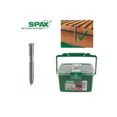 Spax 4.5 x 60mm Wirox Coated Decking Screw Pack of 250