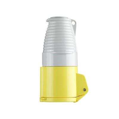 Defender 16A 110V Yellow Coupler/Socket E884052