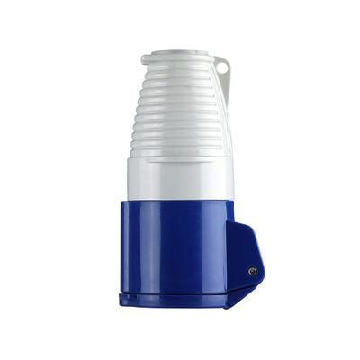 Defender 16A 230V Blue Coupler/Socket E884177