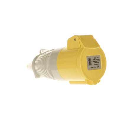 Defender 32A 110V Yellow Coupler/Socket E884275