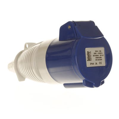 Defender 32A 230V Blue Coupler/Socket E884285