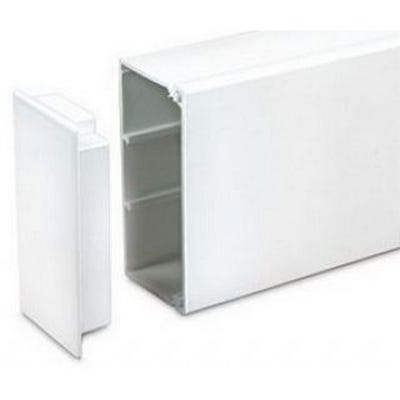 Maxi Trunking Stop End White 50mm x 50mm