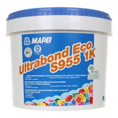 Mapei Ultrabond Eco S955 1K Single Component Flooring Adhesive 15Kg