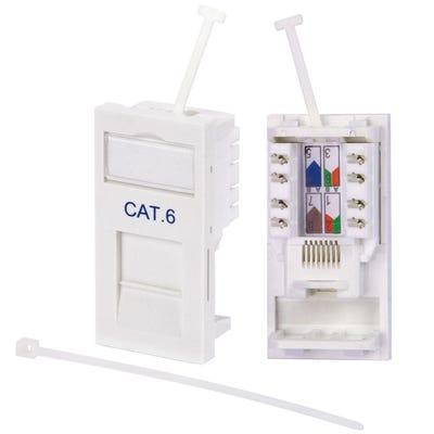 CAT6 RJ45 Module White