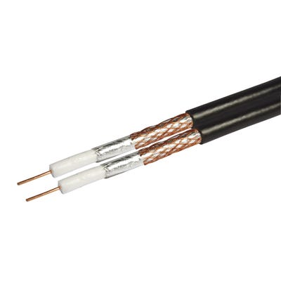Shotgun Coaxial Cable RG6 Black 125m Drum