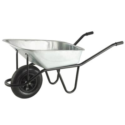 Walsall 120L Galvanised Invincible Wheelbarrow Includes Pneumatic Tyre