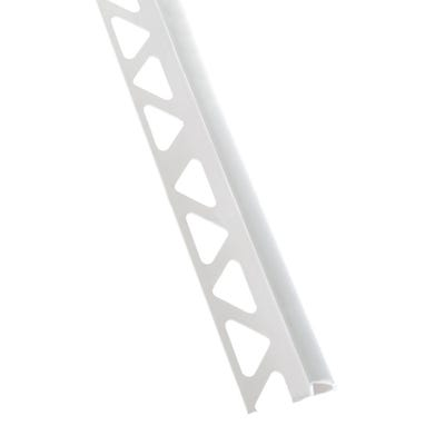 Homelux 10mm White Quadrant Tile Trim 2.44m