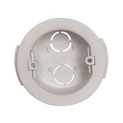 1 Gang 32mm Circular Drylining Box White