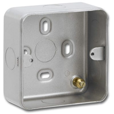 1 Gang Surface Metal Clad Back Box