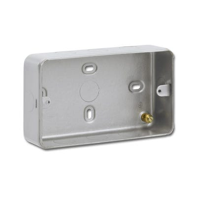 2 Gang Surface Metal Clad Back Box