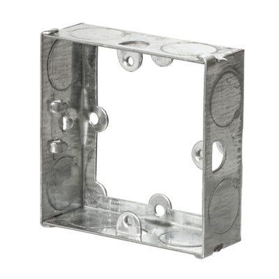 1 Gang 25mm Metal Extension Box