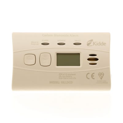 Kidde Carbon Monoxide Alarm With Digital Display & Sealed Battery 10LLDCO